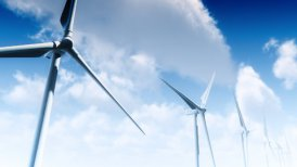 Wind Turbines with Sky Timelapse (Loop) - motion graphic