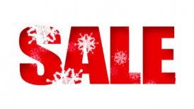 Sale Text Holidays Snow (Loop) - motion graphic