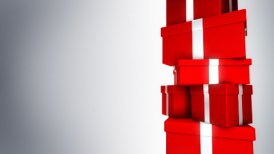 Pile of Gifts Red (Loop) - motion graphic