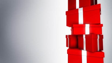Pile of Gifts Red (Loop) - stock footage