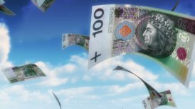 Money from Heaven - PLN (Loop) - editable clip, motion graphic, stock footage