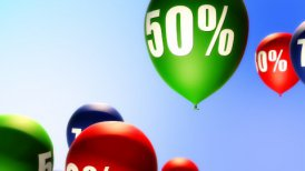Balloons Sale Percents (Loop) - motion graphic