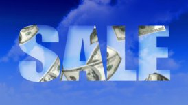 Sale Text Money From Sky - USD (Loop) - motion graphic