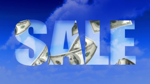 Sale Text Money From Sky - USD (Loop) - stock footage