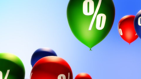 Balloons Percent Symbol (Loop) - stock footage