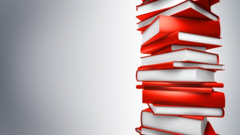 Red Books Stack (Loop) - stock footage