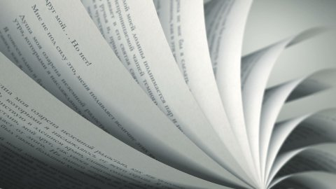 Turning Pages (Loop) Russian Book - stock footage