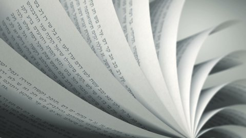 Turning Pages (Loop) Hebrew Book - stock footage