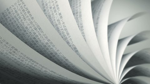 Turning Pages (Loop) Japanese Book - stock footage