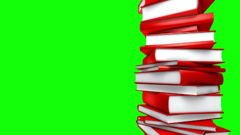 Red Books Stack (Loop on Green Screen) - stock footage