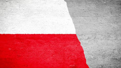 Painting Flag - Poland - stock footage