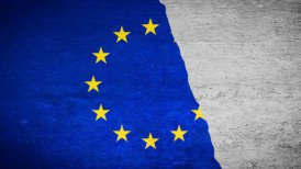 Painting Flag - European Union - editable clip, motion graphic, stock footage