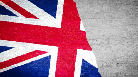 Painting Flag - UK - stock footage
