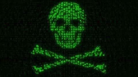 Cyber Piracy - Digital Data Code Matrix - stock footage