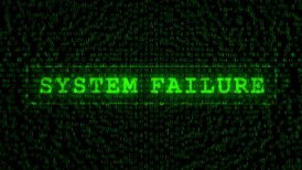 System Failure Text - Digital Data Code Matrix