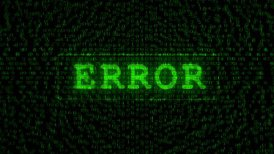 Error Text - Digital Data Code Matrix