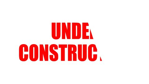 Under Construction Text - Roller Painting (Loop with Matte) - stock footage