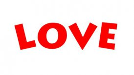Love Text - Roller Painting (Loop with Matte) - editable clip, motion graphic, stock footage