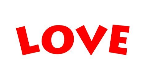 Love Text - Roller Painting (Loop with Matte) - stock footage