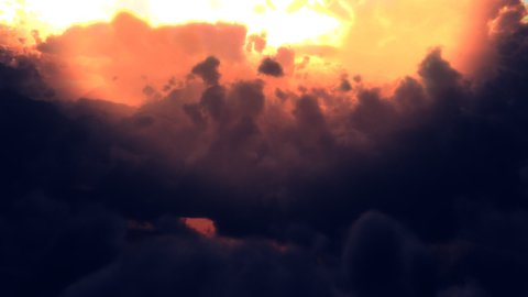 Dark Clouds Flyby (Loop) - stock footage