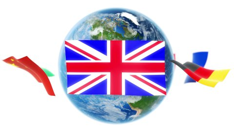 Learning Languages - Flags Around Earth (Loop) - stock footage