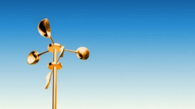 Anemometer Gold (Loop with Luma Matte) - motion graphic