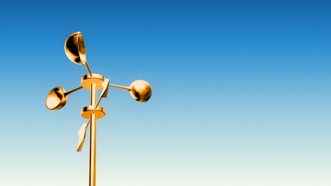 Anemometer Gold (Loop with Luma Matte) - stock footage