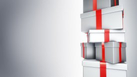 Pile of Gifts White (Loop) - motion graphic