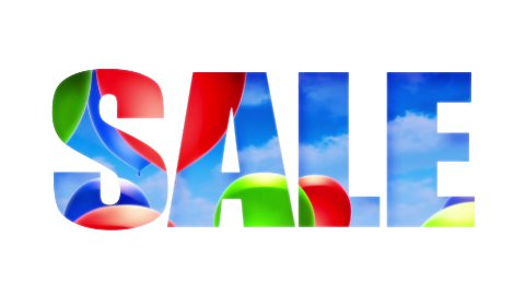 Sale Text Balloons (Loop) - stock footage