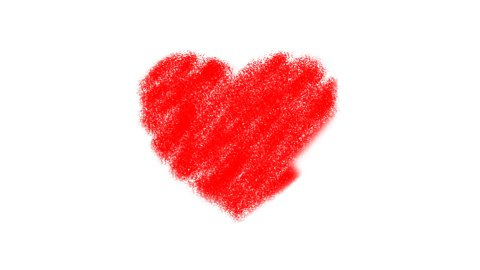 Heart Drawing with Zoom - stock footage