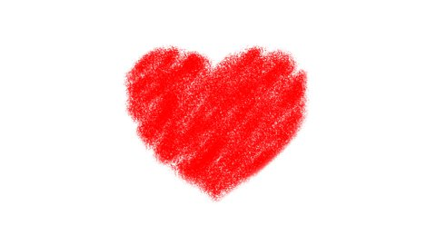 Heart Drawing - stock footage