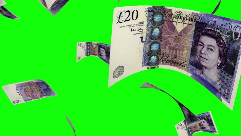 Falling Pounds (Loop on Greenscreen) - stock footage