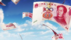 Money from Heaven - CNY - RMB (Loop) - editable clip, motion graphic, stock footage