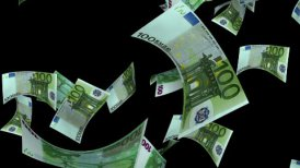 Falling Euro (Loop + Matte) - editable clip, motion graphic, stock footage