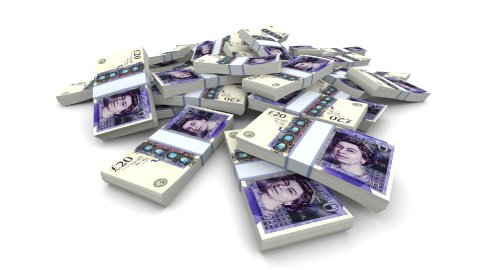 Falling 20 Pounds (GBP) Packs - Realistic - stock footage