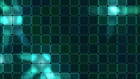 Lights Shining Through Glass Tiles - Loop Turquoise - stock footage