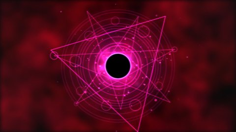 Magic circle, Geometric Background Animation - Loop Red - stock footage