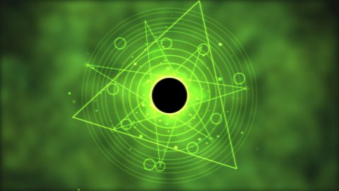 Magic circle, Geometric Background Animation - Loop Green - stock footage