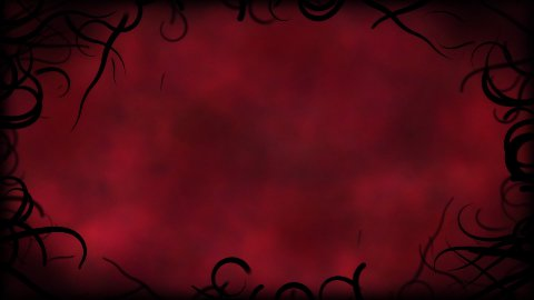 Black Vines Border Background Animation - Loop Red - stock footage