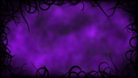 Black Vines Border Background Animation - Loop Purple