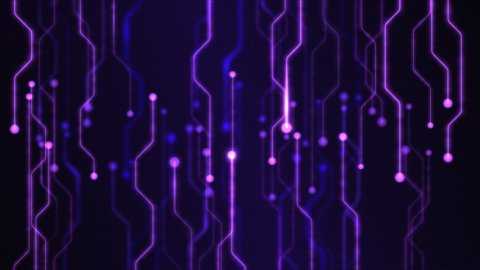 Abstract Technology Circuit Background Animation - Loop Purple - stock footage