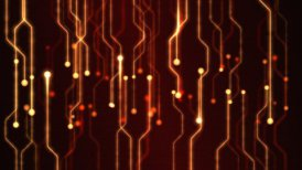 Abstract Technology Circuit Background Animation - Loop Red - motion graphic