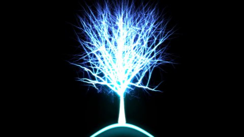 Abstract Rotating Tree of Light - Loop Blue - stock footage