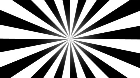 Rotating Stripes Background Animation - Loop Black and White - stock footage