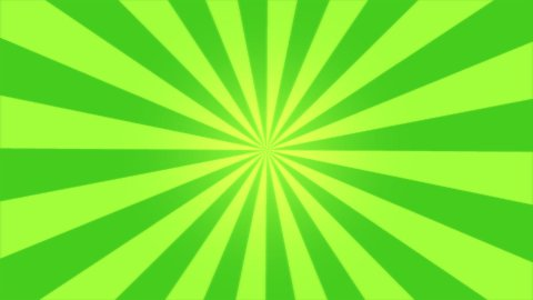 Rotating Stripes Background Animation - Loop Green - stock footage