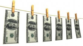 Drying Dollars (Loop + Matte) - editable clip, motion graphic, stock footage