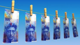 Drying Swiss Francs (Loop) - editable clip, motion graphic, stock footage
