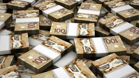 Stack of Canadian Dollar - stock footage