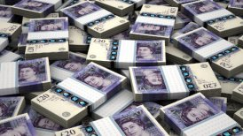 Stack of English Pound - motion graphic