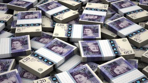 Stack of English Pound - stock footage